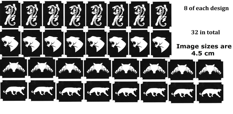 32 Panther Tattoo Stencils