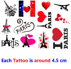 Paris Temporary Tattoos