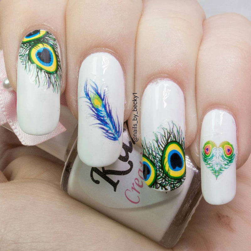 Peacock Feathers code 2 Nail Art