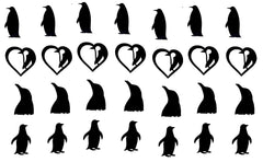 Penguin Vinyl Stickers ( Multiple colours to choose from )