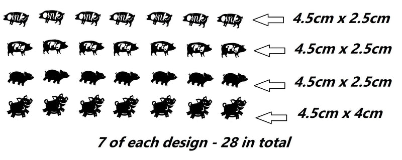Pig  Vinyl Stickers ( Multiple colours to choose from )