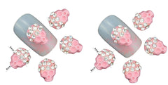 Pink Skull Nail Gems  ( Pack of 10 ) Collection 37