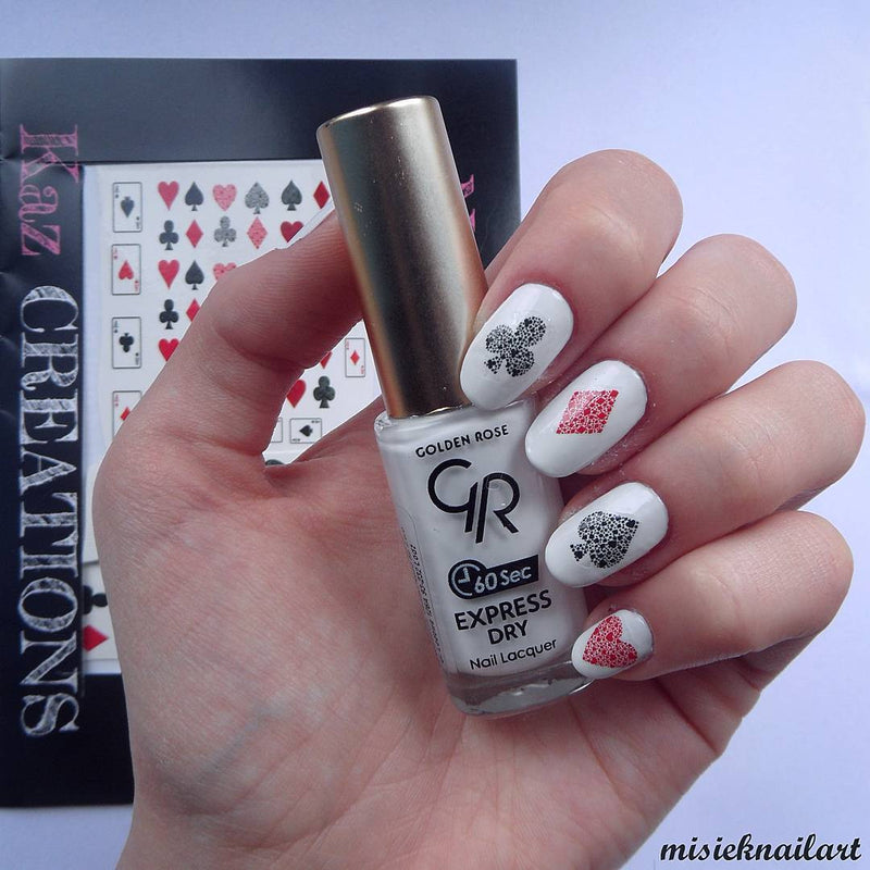 Playing Cards Nail Art