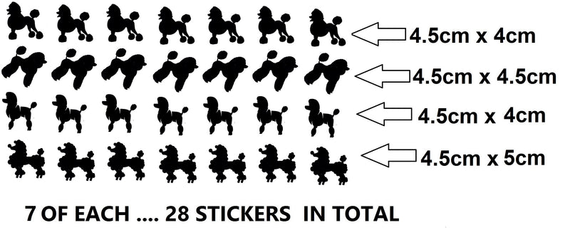 Poodle  Vinyl Stickers ( Multiple colours to choose from )