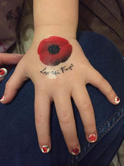 Remembrance day Poppy c2  Temporary Tattoos x 15
