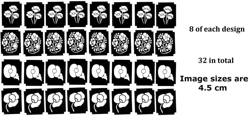 32  Flower Tattoo Stencils c1