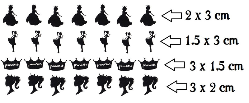 Princess Vinyl Stickers ( Multiple colours to choose from )