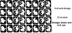 32 Rabbit Tattoo Stencils