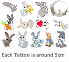 Rabbit  Temporary Tattoos