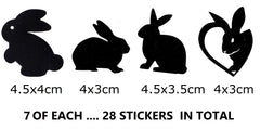 Rabbit Vinyl Stickers ( Multiple colours to choose from )