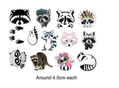 Raccoon Temporary Tattoos