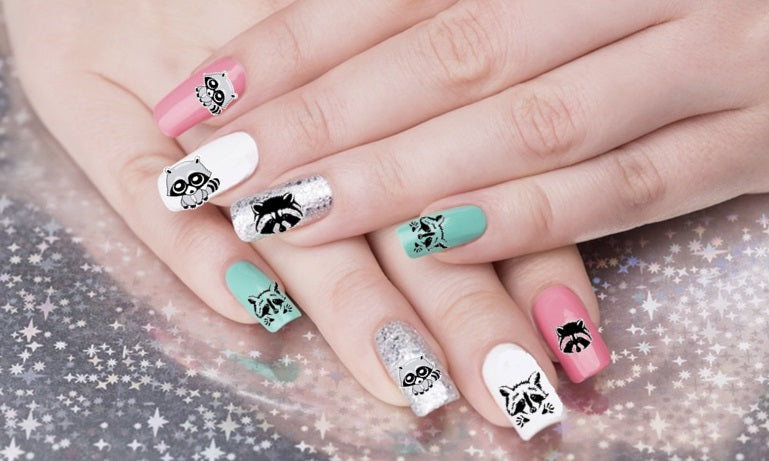 Raccoon Nail Art