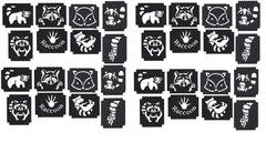 32  Raccoon Tattoo Stencils