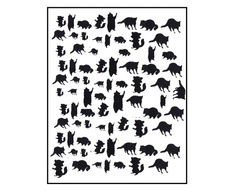 Raccoon Nail Stickers