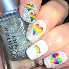 Rainbow Heart Pride LGBTQ  Nail Art Collection