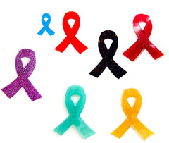 Awareness Ribbon Choose Colour and Keyring/Keychain  or Magnet