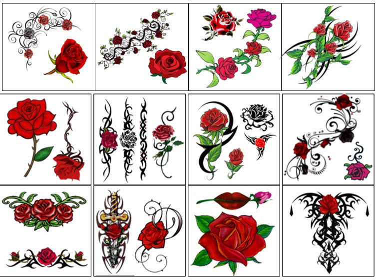 Rose Temporary Tattoos Code 1
