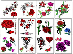 Rose Temporary Tattoos Code 2