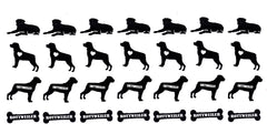 Rottweiler Dog  Vinyl Stickers ( Multiple colours to choose from )
