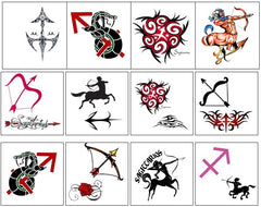 Sagittarius Temporary Tattoos
