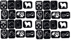 32 Samoyed  Tattoo Stencils