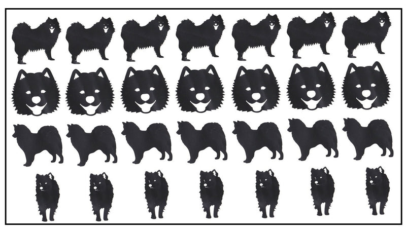 Samoyed Dog Vinyl Stickers ( Multiple colours to choose from )