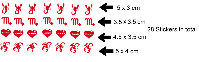 Scorpio Vinyl Stickers ( Multiple colours to choose from )