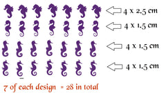 Seahorse Vinyl Stickers ( Multiple colours to choose from )