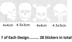 Skull  Vinyl Stickers ( Multiple colours to choose from )