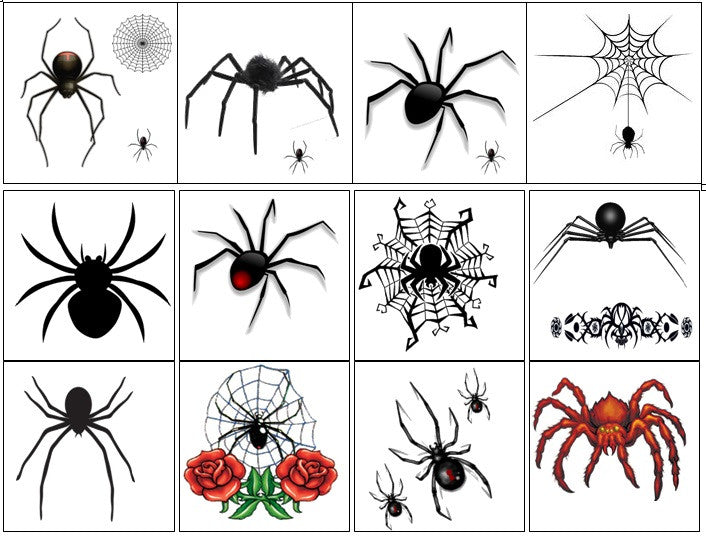 Spider Temporary Tattoos