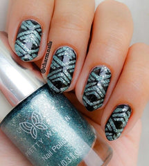 32 Nail Stencils style 122