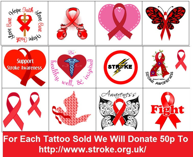 Stroke Awareness Temporary Tattoos