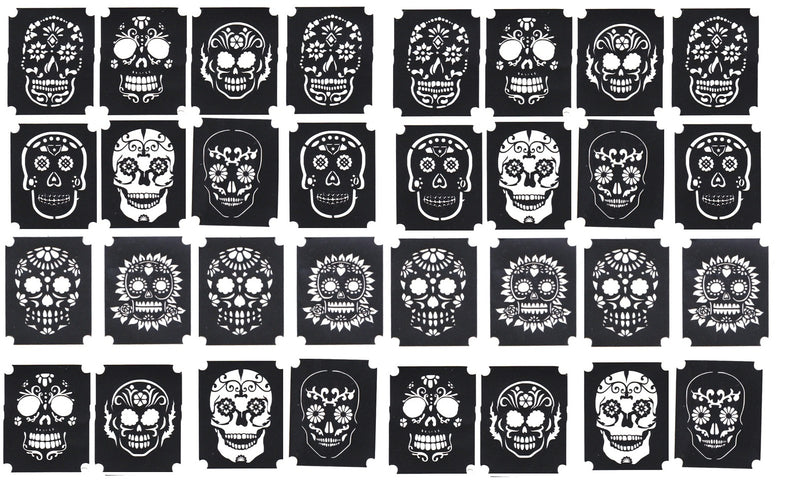 32 Sugar Skull  Tattoo Stencils