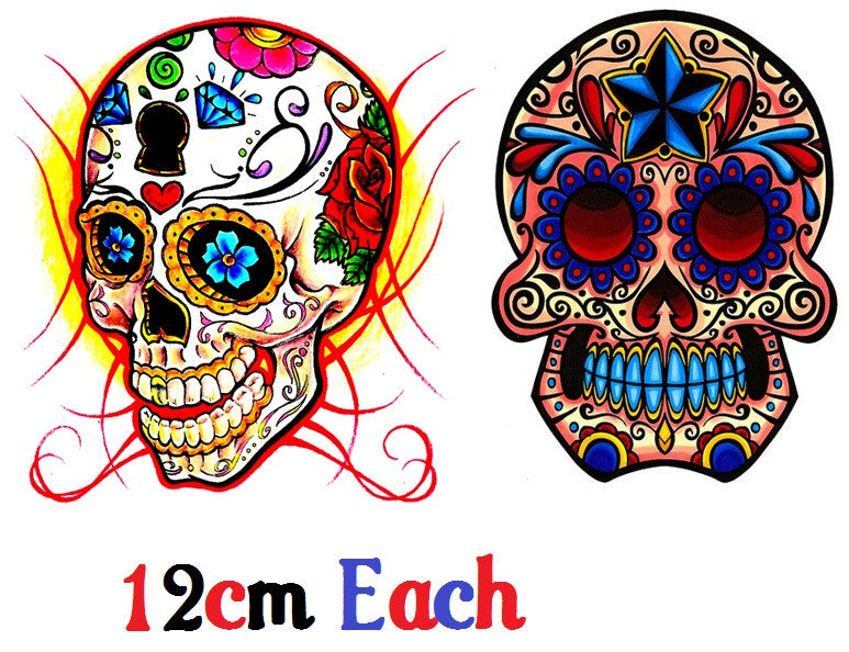 Sugar Skull  Day of the Dead Code 3 Temporary Tattoos