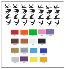Swallow Bird  Vinyl Stickers ( Multiple colours to choose from )