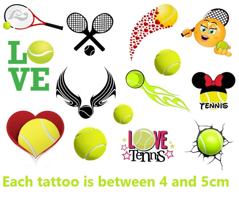Tennis Temporary Tattoos