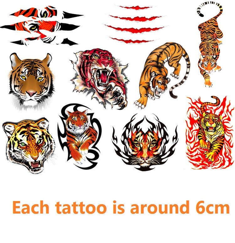 Tiger code 2 Temporary Tattoos