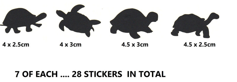 Turtle Tortoise Stickers ( Black  )