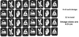 32 Transport Tattoo Stencils c2