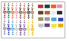 Bat  Vinyl Stickers ( Multiple colours to choose from )