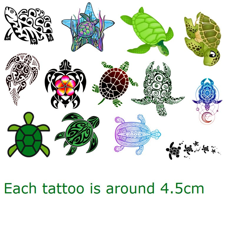 Turtle Tortoise  Temporary Tattoos