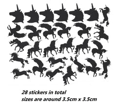 Unicorn Vinyl Stickers ( Multiple colours to choose from )