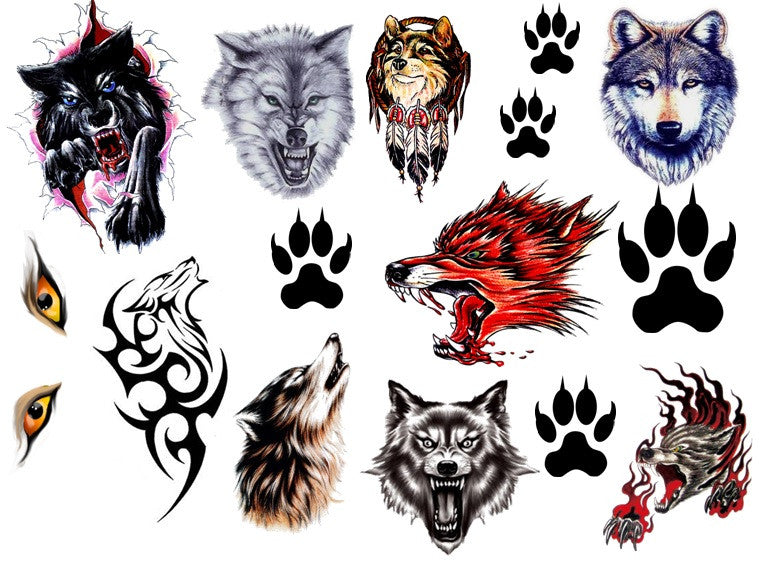 Wolf Temporary Tattoos
