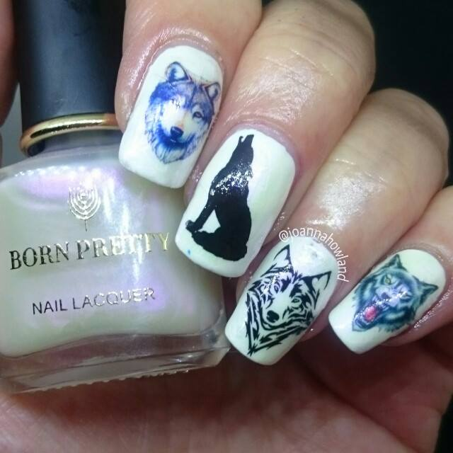 Wolf Nail Art Decals