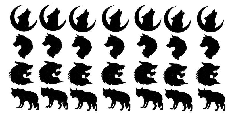 Wolf Vinyl Stickers ( Multiple colours to choose from )