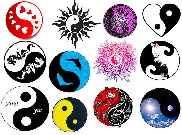 Ying and Yang Temporary Tattoos