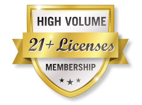 High Volume 21+ VTConnect License Membership Shield