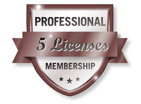 Professional 5 VTConnect License Membership Shield