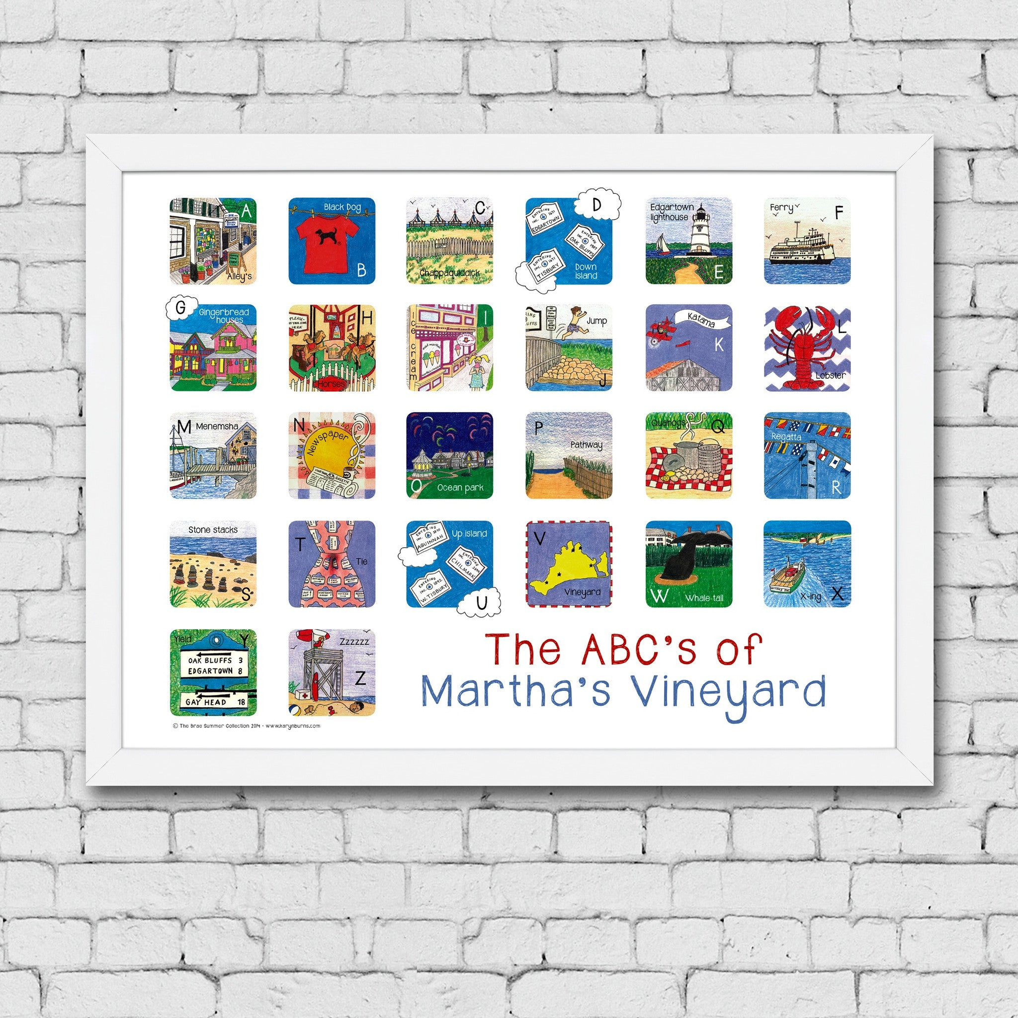 The ABC's of Martha's Vineyard Print