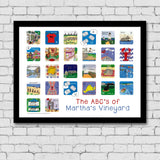 ABC's of Martha's Vineyard Framed Art Print